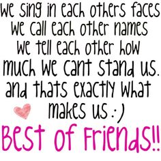 quotes about friends 21  sweet quote about friend we sing in each others faces