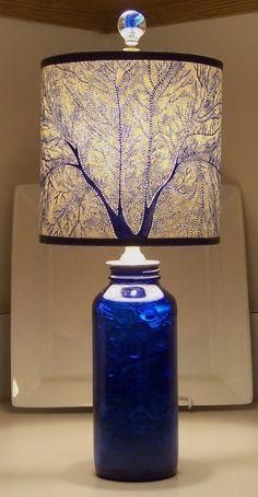 Serenity in Cobalt Fan by jennybeeshades,