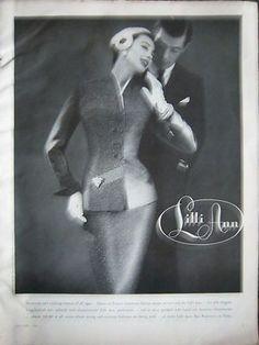 1956 Vintage Womens LILLI ANN Clothing Suit Fashion Ad   eBay