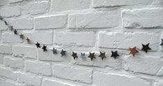 studiOStar leather star bunting on etsy