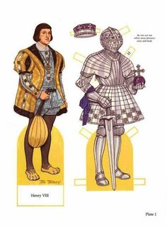 Henry VIII. and his wives paper dolls - Onofer-Köteles Zsuzsánna - Picasa Webalbum
