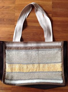 borsa con inserti tessitura