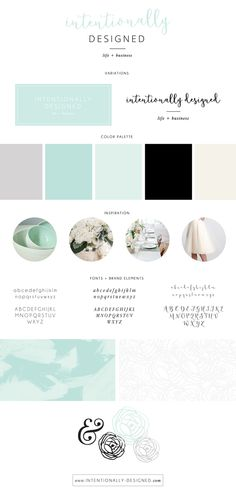 Intentionally Designed brand style board