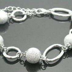 Platinum Over Jewelry Brass Ball chain Bracelet Platinum Over Jewelry Brass Laser Cut Ball chain Bracelet in Gift Box Retail $69 Jewelry Bracelets