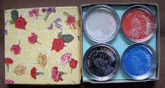 Vintage Lake George, NY American Indian Chief Coaster Set in Box - Made in Japan by Something2SingAbout on Etsy