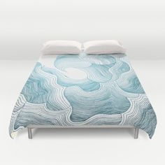 Floral Wave (Teal Edition) Duvet Cover