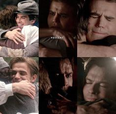 The Vampire Diaries: Stefen & Damon hugging .