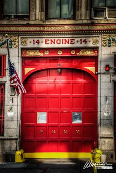 New York Fire Department, Engine 14 Fire Dept, Fire Department, Firefighter Bedroom, Firefighter Decor, Ambulance, Fire Equipment, Small Town Girl, Nyc, I Love Ny