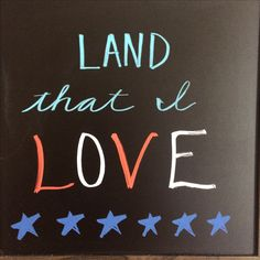 American patriotic chalkboard art. Diy. Fourth of July, Independence Day