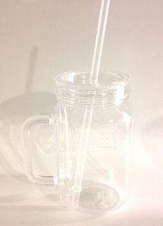 Plastic Mason Jar Tumbler with a Monogram on Etsy, $3.00