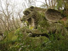 Bomarzo flying monkey (?!) So people have known about winged monkeys at least since the 1500s! And I thought Frank Baum invented them. (Okay, it seems some people think this is a dragon. Whatever.)