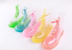 ♡♡♡♡♡  Transparent boots available 5 colours; pink, blue, green, yellow and clear. Available in the following sizes; 36, 37, 38, 39 and 40 ♡♡♡♡♡  Please allow 3 - 6 weeks for this product to get to you. If you need it faster, please contact me before you buy it and I'll calculate shipping pri...