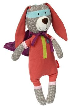 Sigikid super hero bunny from the Papa and Me Collection upper 95 % cotton, 5 % polyester; filling polyester washable at 30 °CH 34 x W 13 x D 11 cmage-group : from 6 month Kids Role Play, Kids Toys, Dinosaur Stuffed Animal, Have Fun, Bunny, Animals, Group, Cotton, Collection