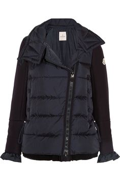 MONCLER Laurine wool-blend and quilted shell down jacket $1,675.00 www.net-a-porter....