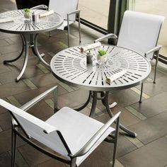 Veer sling outdoor furniture by Tropitone®.  Available from Rich's for the Home http://www.richshome.com/