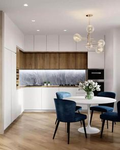 fine The Argument About White Kitchen Interior Designs with Modern Style If your kitchen is actually huge then utilize a region of the kitchen as dining ar. Kitchen Room Design, Modern Kitchen Design, Living Room Kitchen, Home Decor Kitchen, Interior Design Living Room, Dining Room, Apartment Kitchen, Apartment Interior, White Kitchen Interior