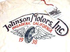 【楽天市場】ジョンソンモータース JOHNSON MOTORS Tシャツ 半袖 メンズ ホワイト ヴィンテージ WINGED WHEEL T-SHIRT -DIRTY WHITE-:Blue in Green