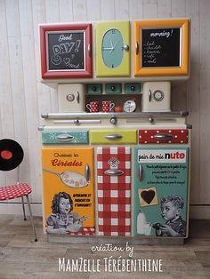 meubles peints, relooking meuble, peinture sur meuble, meuble enfant, meuble vintage, meuble rétro