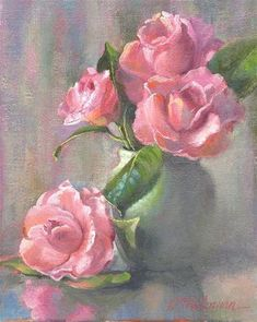 """Daily Paintworks - """"Moment of Pink"""" - Original Fine Art for Sale - © Connie McLennan"""