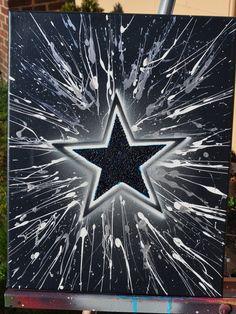 Dallas Cowboys fine art by Summo. $60.00, via Etsy.
