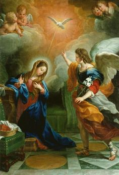 The Annunciation, Agostino Masucci 1742