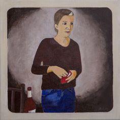 Saskia.  30x30 cm acrylic canvas Anthony van Gelder Pittore