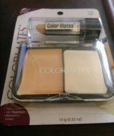 Color Mates Pressed Powder and  Concealer #7128 Light #ColorMates