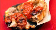Tarte à la tomate et au thonVoir la recette de la Tarte à la tomate et au thon >>
