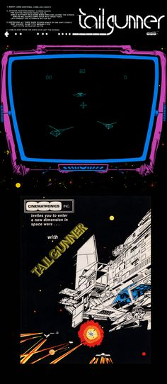 Arcade Gaming Ingenious Original Exidy Tailgunner 2 Manual Collectibles