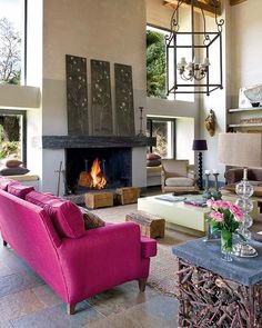 living room and fireplace.