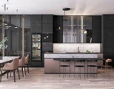 Modern Home Decor Kitchen Kitchen Room Design, Kitchen Sets, Home Decor Kitchen, Kitchen Furniture, Kitchen Interior, Room Kitchen, Modern House Design, Modern Interior Design, Interior Design Courses Online