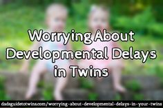 Worrying about Developmental Delays in Twins: http://www.dadsguidetotwins.com/worrying-about-developmental-delays-in-your-twins/