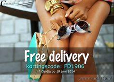FREE DELIVERY - Alleen vandaag betaal je geen verzendkosten voor jouw bestelling bij www.caressaa.nl - Let's go shopping