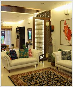 How to Perfectly Manage Simple Indian Home Decoration Ideas – GoodNewsArchitecture – Indian Living Rooms Living Room Interior, Living Room Decor, Dining Room, Indian Interior Design, Living Room Partition, Wall Partition, Decoration Inspiration, Decor Ideas, Decorating Ideas