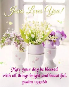 Good morning/afternoon dear friend! May your day be blessed with all things bright and beautiful! Amen! JESUS LOVE YOU... and so do I! Sending hugs your way today. xoxo's