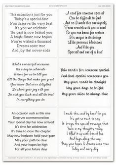 Easy Peely Verses for Cards - All Occasion Sheet Birthday Verses For Cards, Birthday Card Messages, 70th Birthday Card, Birthday Card Sayings, Homemade Birthday Cards, Birthday Sentiments, Birthday Quotes, Homemade Cards, Birthday Message