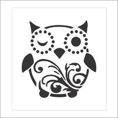 Stencil #S052 Crown Stencil, Bear Stencil, Sunflower Stencil, Face Stencils, Windmill, Owl, Stamp, Decor, Decoration