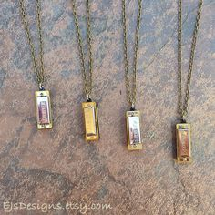 Harmonica Necklace by EJsDesigns on Etsy, $11.00  I neeeeed this. I could annoy anyone anytime