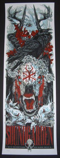 Soundgarden Wallingford Tour Poster Rhys Cooper 2013