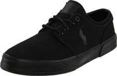 Polo Ralph Lauren Men's Faxon Low Sneaker, Black/Black/Black, 11 D US: A heavy toe and heel bumper distinguish this logoed offering from Polo Ralph Lauren. Polo Shoes, Skate Shoes, Men's Shoes, Leather Fashion, Leather Men, Sneakers Fashion, Fashion Shoes, Men Fashion, Hiking Boots Women