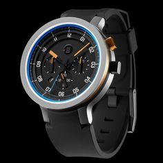 MINUS-8 Silver | Blue Layer 24 Watch