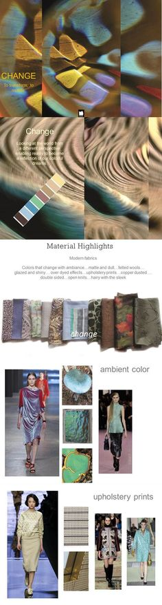 Fall Winter Color Trends from Pantone Trends 2015 2016, 2015 Fashion Trends, Trendy Fashion, Color Fashion, Fashion Styles, Fashion Forecasting, Winter Trends, Winter Colors, Textiles