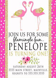 Flamingo Invitation digital file by PaperLaneDesign on Etsy