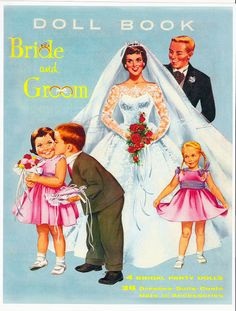 Paper Dolls~Bride+Groom - Bonnie Jones - Picasa Webalbum * 1500 free paper dolls from artist Arielle Gabriel The International Paper Doll Society for Pinterest paper doll pals *