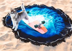 Blue Lagoon Round Towel