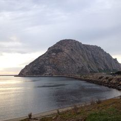 The big rock at Morro Bay