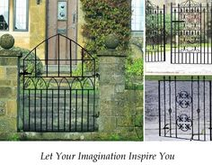 Metal Gates: We provide a wide range of Metal Gates for the home and garden. Garden Gates Direct is a UK leading supplier for Metal Gates available online to buy. Metal Garden Gates, Metal Gates, Gates For Sale, Gate Images, Side Gates, Driveway Gate, Home And Garden, Outdoor Structures, Stone