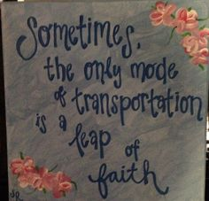 Leap of Faith Canvas  Quote Canvas Quote by TheRedheadedCamel, $20.00
