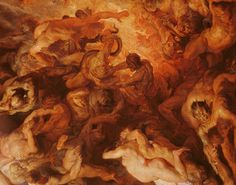 Detail of the 'Small' Last Judgement, c.1620 (oil on panel) (see 206400) Wall Art & Canvas Prints by Peter Paul Rubens