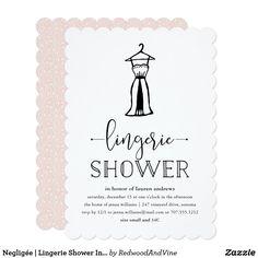 Negligée | Lingerie Shower Invitation